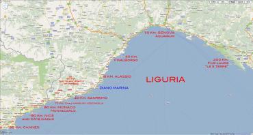 Расстояния от Диано Марина до других городов