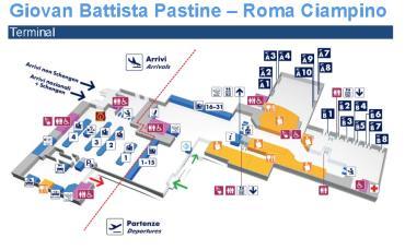 Рим - Чампино (Пастине) - карта-схема аэропорта